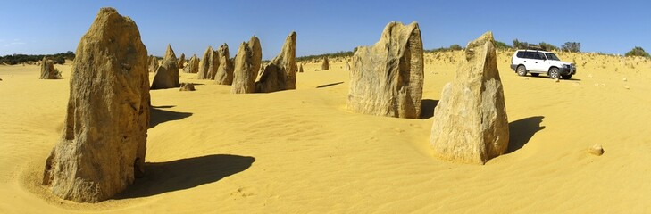 Pinnacles Desert, Nambung National Park, West Australia panorama