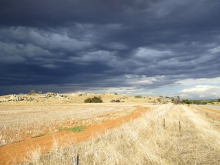 clouds at harrocks valley, western australia