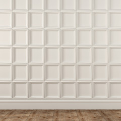 Background with decorative white wall