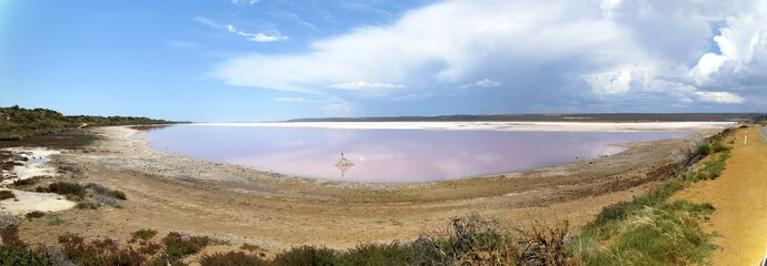 Pink Lake near Cervantes, Western Australia