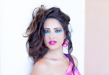 Portrait woman beautiful color