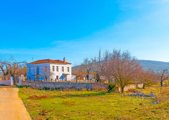 landscapes around the Peleta village in southern Greece