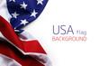 Leinwandbild Motiv USA flag