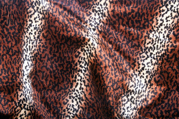 Faux Leopard Print Pattern on Furry Fabric