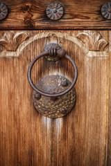 Door Knocker on the door of an old building