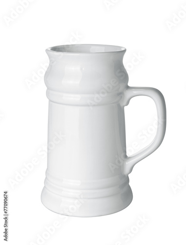canvas print picture Empty beer mug isolated on white background