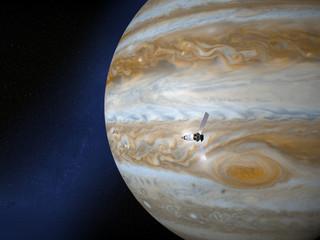 Giove e sonda spaziale Juno