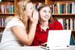 School Girls Whispering