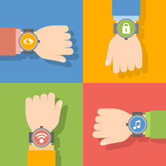 Reloj inteligente con aplicación móvil