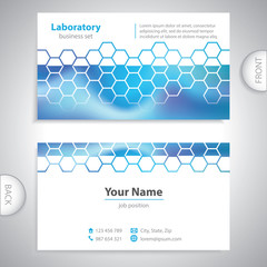 business card - science and research - chemical formulas