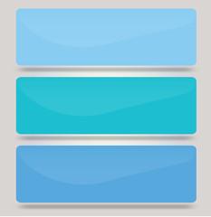 Web blue buttons