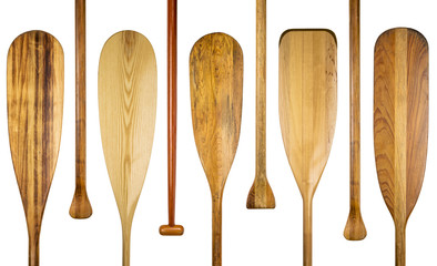 wood canoe paddles abstract