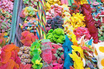 Delicious candy at the Boqueria in Barcelona