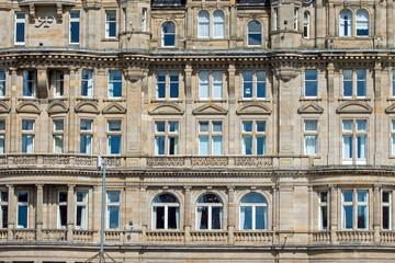 Detail of an old victorian building in Edinburgh, Scotland