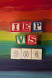 504 Plan VS. IEP (Individualized Education Plan) alphabet blocks - 77093472