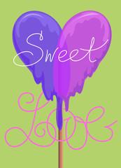 Lollipop Valentines Day Greeting card