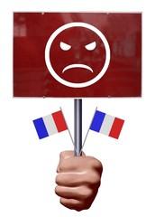 Manifestant français mécontent