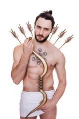 Handsome archer. Cupid, Valentine, Antiquity