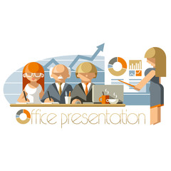 Flat Office Presentation