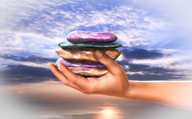 Calmness, equilibrium, spiritual and concentration.