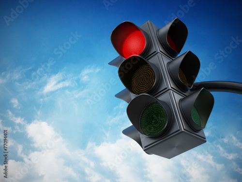 Leinwanddruck Bild Green traffic light