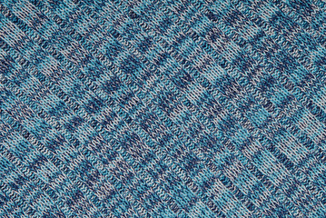 piece of blue knitted cloth