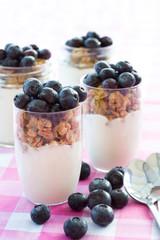 Yogurt and cereal breakfast