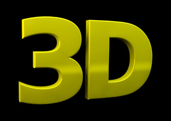 3D letters on black background.  3d word