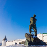 The monument to Musa Dzhalil, poet, hero of the Soviet Union. Ka poster