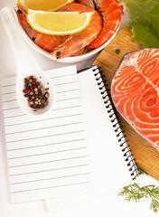 Salmon. Fresh Raw Salmon Red Fish Steak