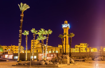 View the New mosque from Luxor temple - Egypt