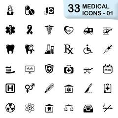 33 black medical icons 01