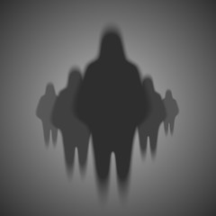 Silhouette of people ghosts