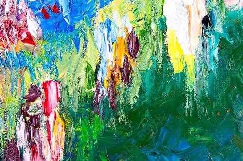 Leinwanddruck Bild abstract painting