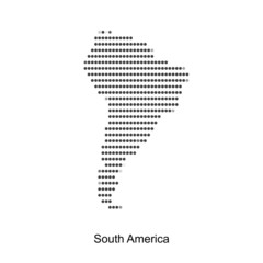 Dotted map of south america  for your design