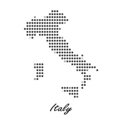 Dotted map of Italy  for your design