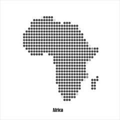Dotted map of Africa  for your design