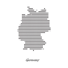 Dotted map of Germany  for your design