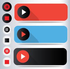 Music, video buttons