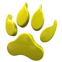 Yellow paw