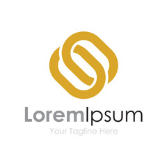 Golden chains partnership bussiness element icon logo