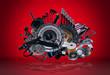 Leinwanddruck Bild - New spare parts