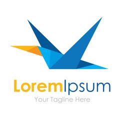 Pixel strange geometric flying bird element icons business logo
