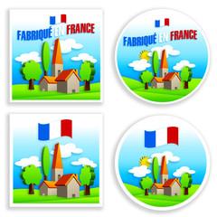 étiquette - fabriqué en France