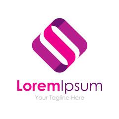 S letter silky purple material graphic design logo icon