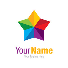 Colorful star shinning graphic design logo icon