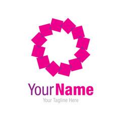 Purple squares circle graphic design logo icon