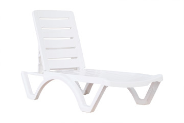 white empty chaise-longue