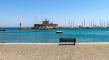 Mandraki, the Oldest harbor of Rhodes Island