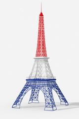 Torre Eiffel 3D con colori Francia